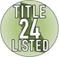 Title 24 Listed